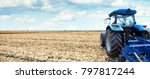 tractor working on the farm  a... | Shutterstock . vector #797817244