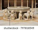 the marble fountain of patio of ...   Shutterstock . vector #797818549
