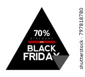 black friday label on a white... | Shutterstock .eps vector #797818780