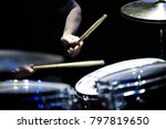the drummer in action. a photo... | Shutterstock . vector #797819650