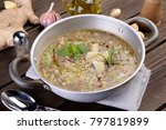 small saucepan with vegetables...