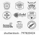 set of music production logo... | Shutterstock . vector #797820424