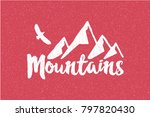 hand drawn wilderness old style ... | Shutterstock . vector #797820430