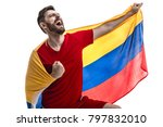 colombian male athlete fan... | Shutterstock . vector #797832010