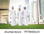 three arabic men bonding... | Shutterstock . vector #797840614
