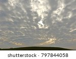 Small photo of gray Altocumulus cloud