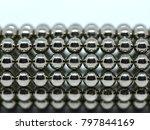 balls of neodymium  magnets  | Shutterstock . vector #797844169