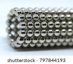 balls of neodymium  magnets  | Shutterstock . vector #797844193