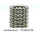 balls of neodymium  magnets  | Shutterstock . vector #797844196
