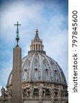 dome of the st. peter's... | Shutterstock . vector #797845600