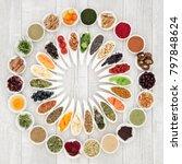 health food concept to improve... | Shutterstock . vector #797848624