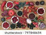health food with fruit ... | Shutterstock . vector #797848654