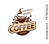 coffee cup vector logo design...   Shutterstock .eps vector #797850610