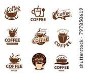 coffee cup vector logo design... | Shutterstock .eps vector #797850619
