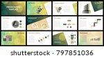 business presentation templates.... | Shutterstock .eps vector #797851036