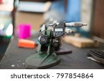 micro meter high precision of... | Shutterstock . vector #797854864