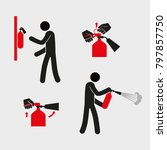 extinguisher's instructions....   Shutterstock .eps vector #797857750