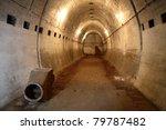 The Mi?dzyrzecz Fortification Region - inside of the Nazi Germany fortification system - stock photo