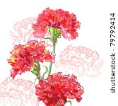 floral background  greeting... | Shutterstock .eps vector #79792414
