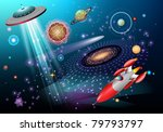outer space fantasy theme | Shutterstock .eps vector #79793797