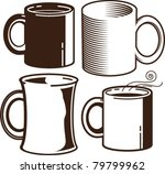 coffee cups | Shutterstock .eps vector #79799962