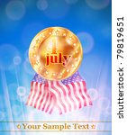 vector shiny frame with 4 july... | Shutterstock .eps vector #79819651