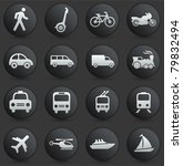 transportation icon on round... | Shutterstock .eps vector #79832494