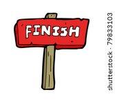 finish sign cartoon | Shutterstock .eps vector #79833103