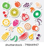 various fruits and vegetables... | Shutterstock .eps vector #79844947