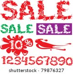 symbol sale  numerals and... | Shutterstock .eps vector #79876327