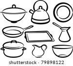 set of kitchen utensil   Shutterstock .eps vector #79898122
