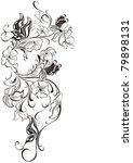 vector floral frame from...   Shutterstock .eps vector #79898131