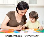beautiful mother and daughter... | Shutterstock . vector #79904029