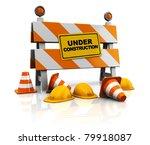 3d under construction... | Shutterstock . vector #79918087