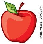 red apple | Shutterstock .eps vector #79939471