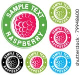 raspberry label design | Shutterstock .eps vector #79948600