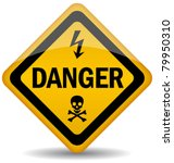 vector danger warning sign ... | Shutterstock .eps vector #79950310
