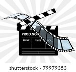 movie director clapperboard   Shutterstock .eps vector #79979353