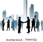 business people in the big city ... | Shutterstock .eps vector #7999702
