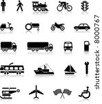 collection of transportation... | Shutterstock . vector #8000767