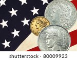 three faces of liberty  stars... | Shutterstock . vector #80009923