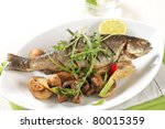 Pan Fried Trout Served With...