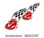 Racing cars and symbols for sports or tattoo design, such a logo. Jpeg version also available in gallery