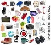 set of different  isolatad...   Shutterstock . vector #80025022