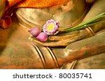 Lotus In Hand Image Of Buddha