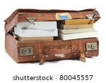 Leather Suitcase Filled With...