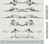 collection of vintage elements... | Shutterstock .eps vector #80058235