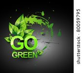 Go Green Vecto Symbol Style...