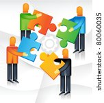 men joining together to form... | Shutterstock .eps vector #80060035