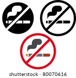 no smoking vector sign | Shutterstock .eps vector #80070616